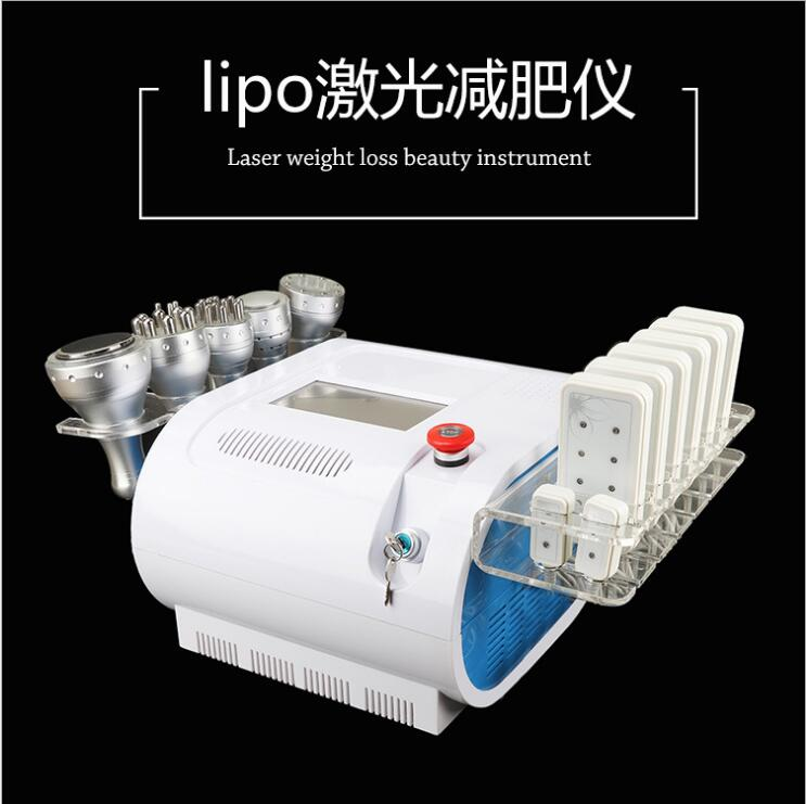 Portable 7 In 1 Vacuum Ultrasonic Slimming Cavitation Machine Massage Machine For Body And Face RF