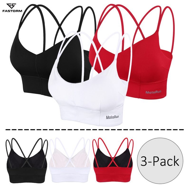 2//3 Packs Plus Size Women/'s Soft Seamless Wire-free Sports Bra Fitness Yoga Tops