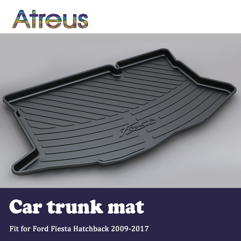 Atreus For 2009-2017 Hatchback Ford Fiesta MK7 Accessories Car Rear Boot Liner Trunk Cargo Mat Tray Floor Carpet Pad Protector mopai rubber car interior trunk cargo liner floor pad mat accessories for ford mustang 15 up car styling