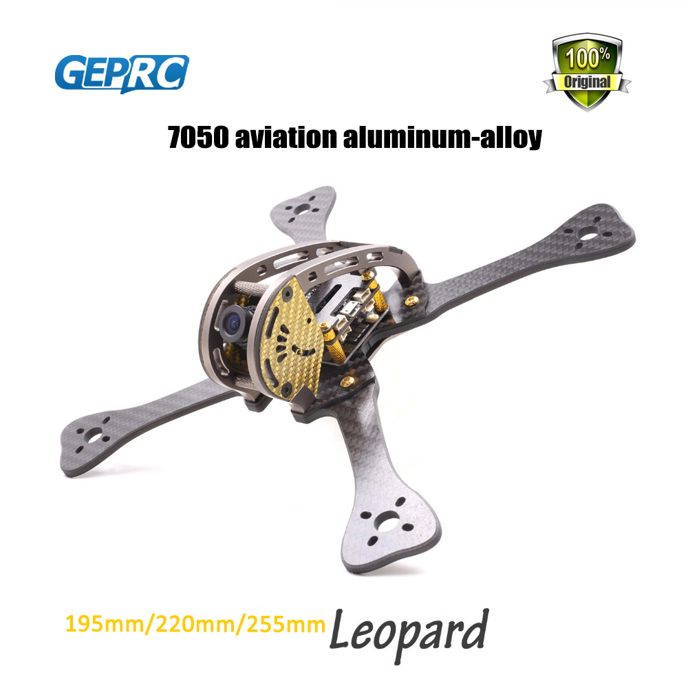 GEPRC Leopard GEP 195mm/220mm/255mm FPV Quadcopter 7075 aviation aluminum & 3k carbon fiber frame DIY FPV RC diy fpv rc drone geprc viper 220mm gep tsx5 thickness 5mm arms quadcopter 7075 aviation aluminum