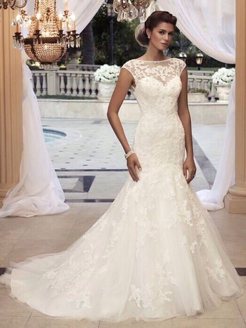Ivory Mermaid Wedding Dress Lace Liques Trumpet Style Africa Gown Customized Vestidos De Novias Plus