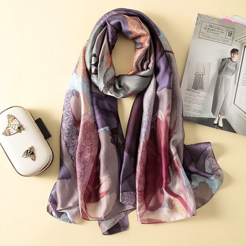 Long   Wraps   Beach Silk   scarf   Pashminas soft hot shawl summer   scarves   Bandana luxury brand Elegant Foulard for Female