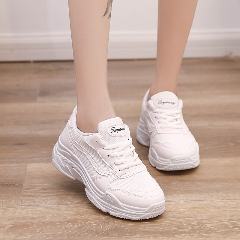 2019 New Trends Woman Sneakers White Black Bling Platform Women Running Shoes Ladies Baskets Femme Cheap Zapatos Mujer Deportiva sneakers