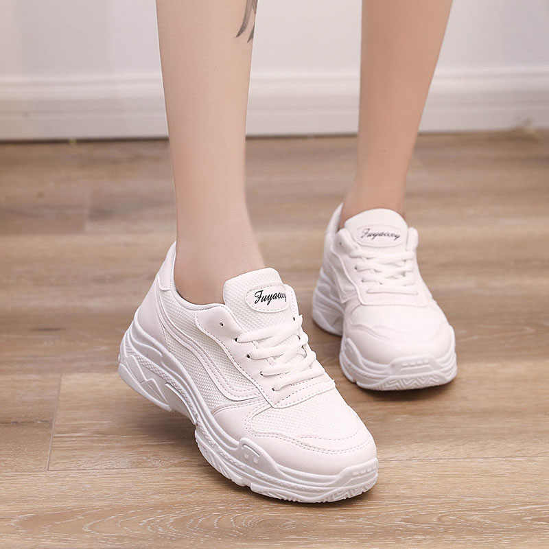 2019 New Trends Woman Sneakers White