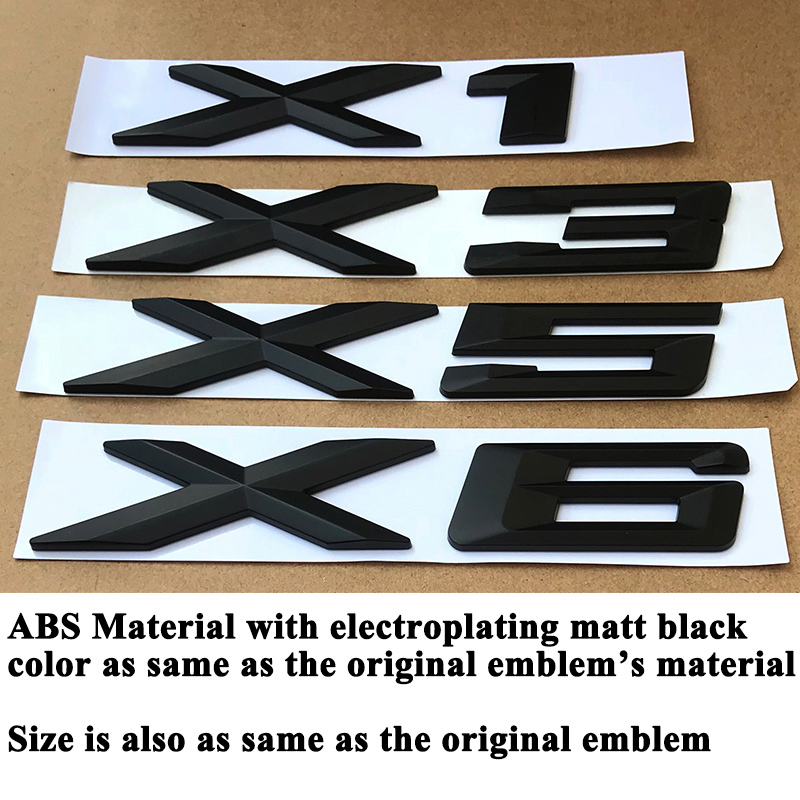 "Matte Black /"" X 3 /"" Number Trunk Letters Badge Emblem Letter Sticker for BMW X3"