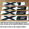 1pc ABS Matt Black Car Emblem Logo Badge Tail Trunk Sticker Accessories for BMW X1 E84 F48 X3 F25 G01 X5 E70 F15 X6 F16 E71 G06 review