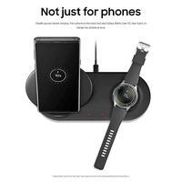 Tüketici Elektroniği'ten Akıllı Aksesuarlar'de Kablosuz şarj hızlı şarj Duo Dock çift EP N6100TBCGCN Samsung Galaxy not 9 için cep telefonu için Samsung Galaxy için izle