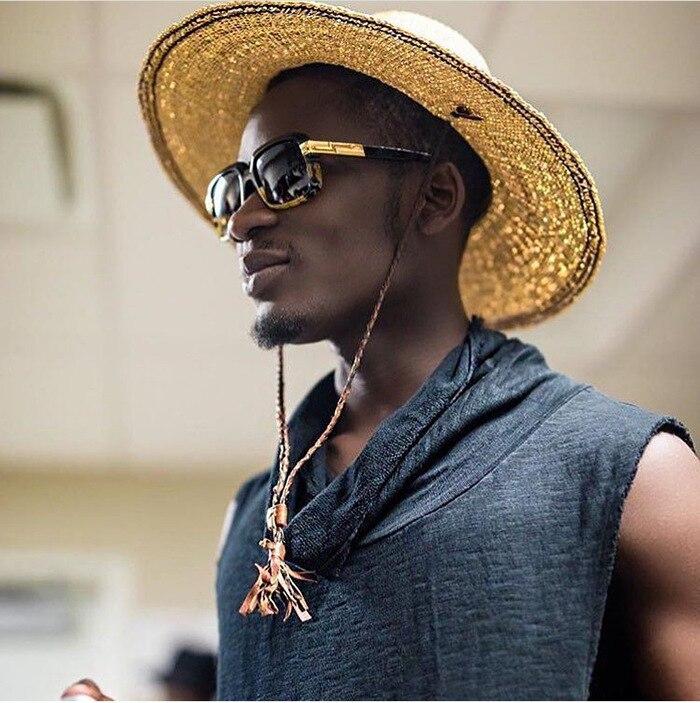 Männer Frauen Trend Retro Platz Outdoor Sonnenbrille Luxus Hohe - Bekleidungszubehör - Foto 3