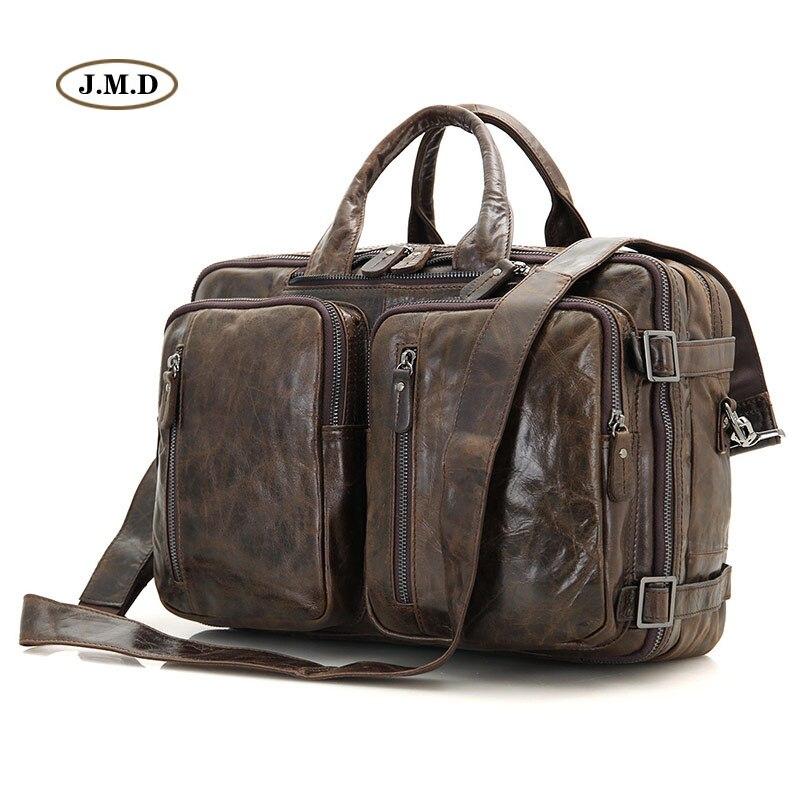 New New Style Genuine Vintage Leather Men Handbag Laptop Bag Messenger Bag Multifunctional Business Briefcase 7014C-1