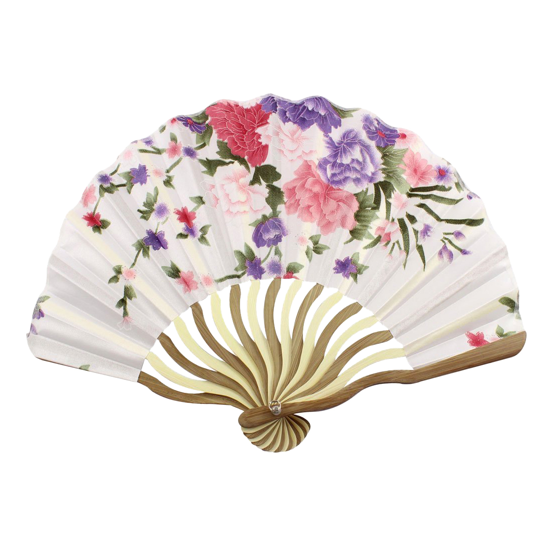 Hot Sale Bamboo Flower Printed Japanese Style Foldable Hand Held Fan Gift Decor