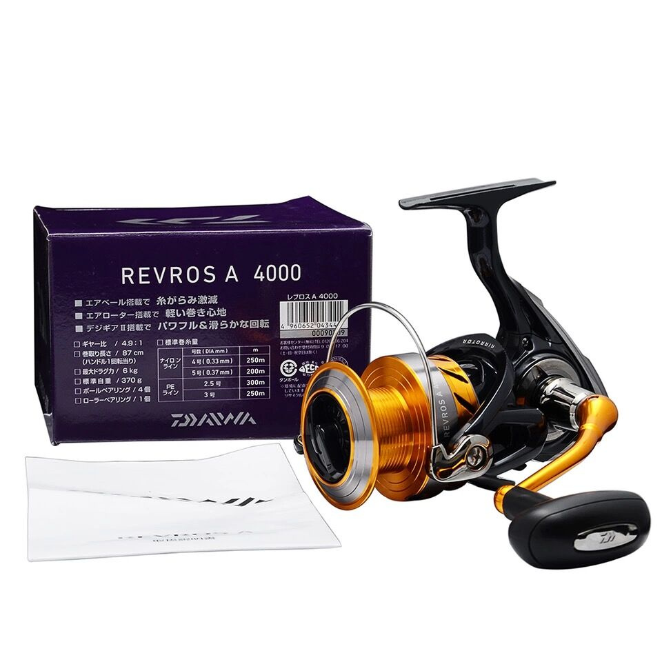 100% Daiwa REVROS A Spinning Fishing Reel 2000/2500/3000H/3500/4000 5BB Saltwater Freshwater Carp Feeder Wheel With Air Rotor brand new smt yamaha feeder ft 8 2mm feeder used in pick and place machine