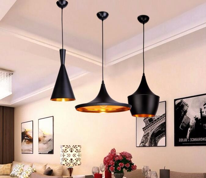 Elegant Black/White 3 Pieces/Set Metal Pedant Lights By Famous Nordic Designer Pendant  Lamp Gold Inside Chandelier,E27 90 240V In Pendant Lights From Lights ...