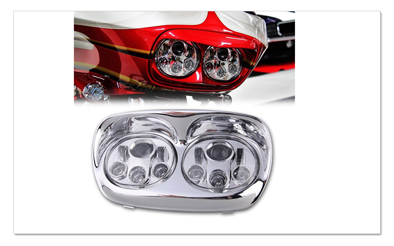 5.75 inch LED Motorcycle Headlight 5-34 Daymaker Projector Dual LED Headlight for Harley Davidson Road Glide 2004-2013 (11)