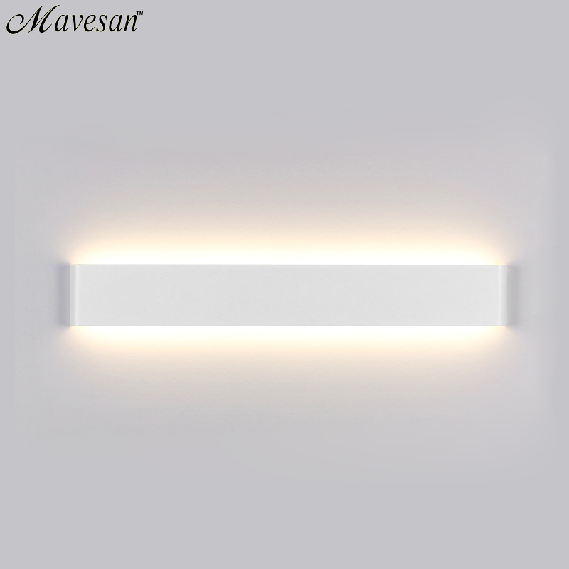 ФОТО Black & White Indoor Wall Light Contemporary Style 100-240V AC LED Wall Lamp For bedroom bedside lamps