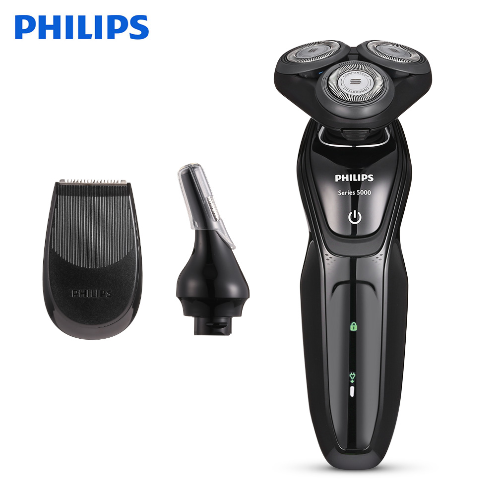 PHILIPS S5082/61 Rechargeable Electric Shaver 3D Triple Floating Blade Heads Philips Shaver 220V Beard Trimmer Shaving Machine 3d floating heads waterproof electric shaver wet