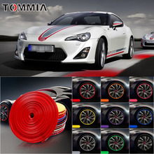 8M Car Wheel Hub Rim Edge Protector Ring Tire Strip Guard Rubber Decals For Toyota 86