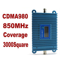 LCD Display Function New Model CDMA 980 High Gain CDMA 850Mhz Mobile Phone Signal Booster GSM