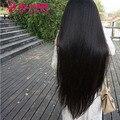 """Peruano virgem do cabelo rendas frente em linha reta perucas 8 """"-30"""" cabelo humano remy cheia do laço perucas de cabelo humano para as mulheres negras peruca dianteira do laço"""