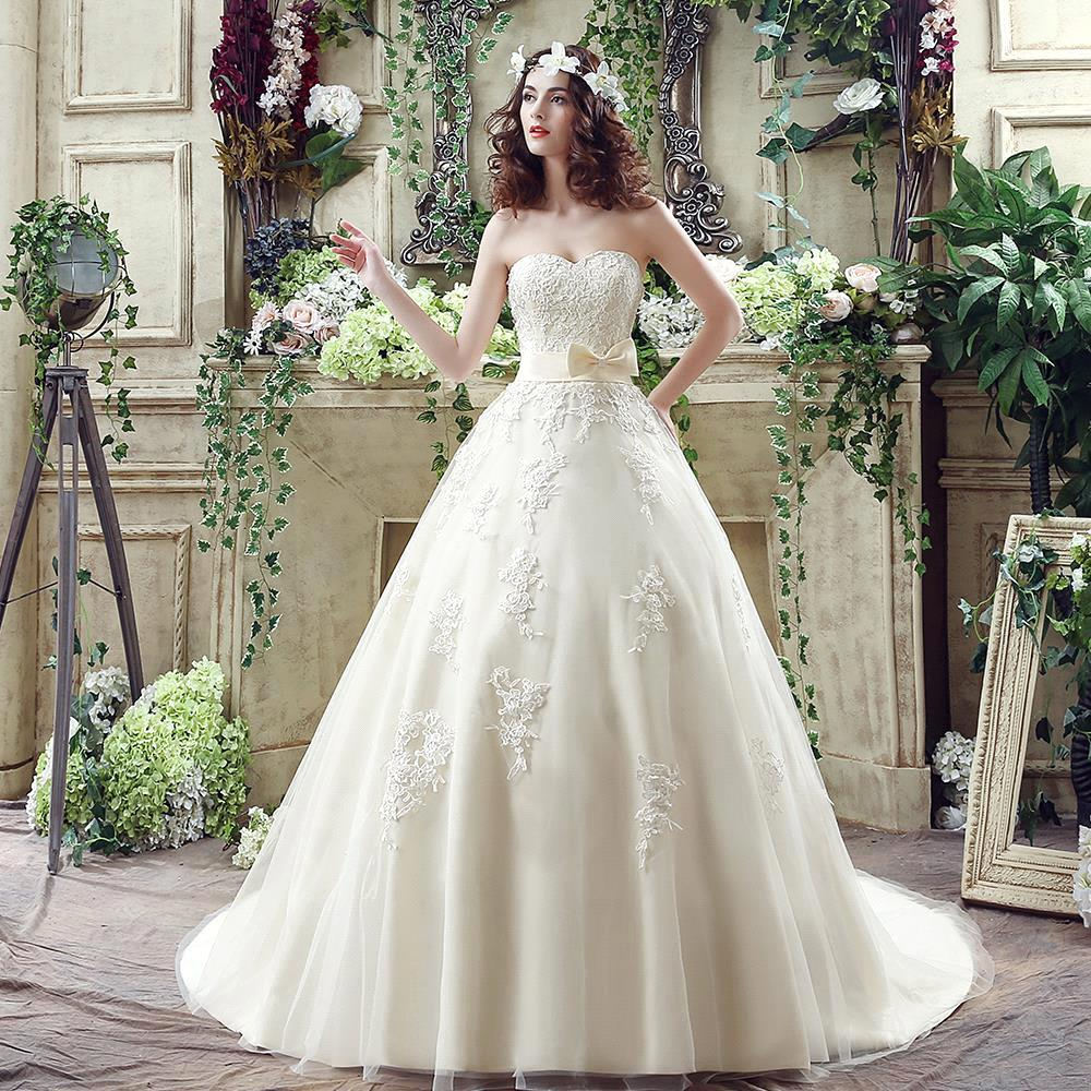 Champagne Lace Wedding Gown: Aliexpress.com : Buy Romantic Ball Gown Sweetheart