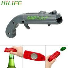 HILIFE Dosenöffner Frühling Kappe Catapult Launcher Gun form Bar Werkzeug Trinken Öffnung Shooter Bier Flasche Opener Kreative
