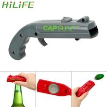 HILIFE apriscatole tappo a molla catapulta lanciatore forma di pistola Bar strumento bevande apertura sparatutto apribottiglie birra creativo