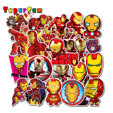 Anime stickers Super Heroes Iron Man Stickers Laptop Fridge Skateboard Suitcase Scrapbooking funny Cool Waterproof Sticker Toys anime avatar monster pet thumbnail funny spoof taste fridge magnet colourful squishy waterproof stickers kawaii toy recyclable