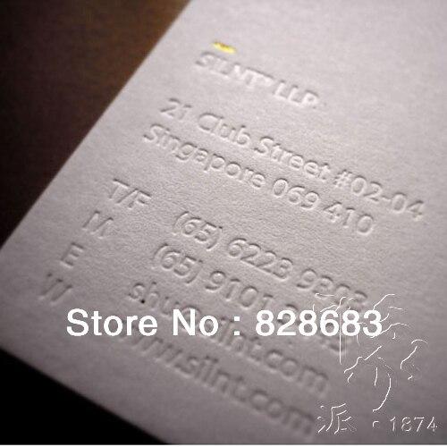 200 шт. два сталкиваются печать бумага искусства визитной карточки с Тиснением Логотип текст-90* 54mm-350gms бумага искусства