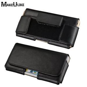 Rotatable Belt Clip Pouch Case For Xiaomi MI 5 6 5S Plus Redmi 4 5 5A Note 3 4 5 Pro 4X 5A MIX 1 2 2S Universal Phone Bag Cover