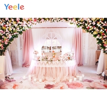 Yeele Pink Wedding Ceremony Flowers Curtain Scene Photography Backdrops Love Party Photographic Backgrounds For Photo Studio