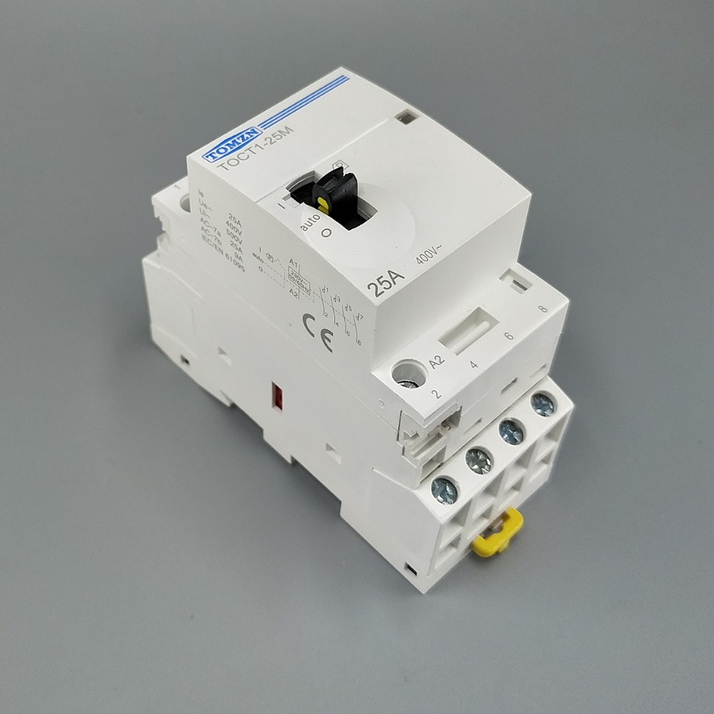 TOCT1 4P 25A 220V/230V 50/60HZ Din rail Household ac Modular contactor with Manual Control Switch 4NO or 2NO 2NC or 4NC цена 2017