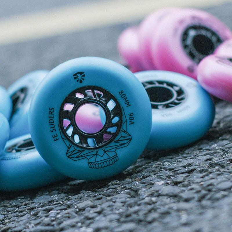 Free Shipping Roller Skates Wheels Slide Brush Wheel 90 A