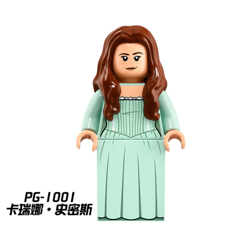 Diy Mode PG1001 Carina Smith Mini Dolls Pirates of the Caribbean 5 Silent Mary Building Blocks bricks Toys For Children Gifts
