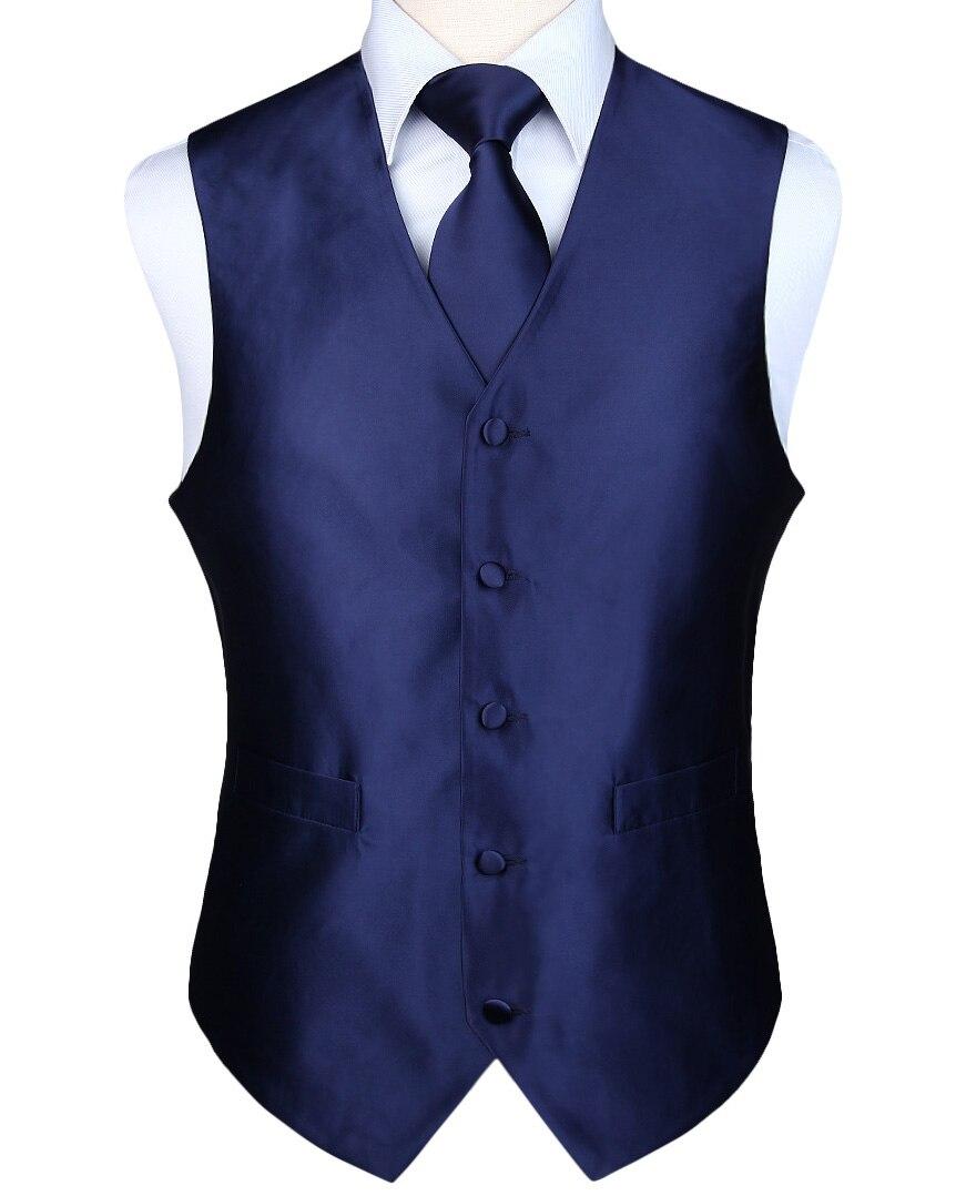 Plaza de bolsillo de los hombres es clásico sólido fiesta boda corbata Jacquard chaleco bolsillo cuadrado corbata traje conjunto