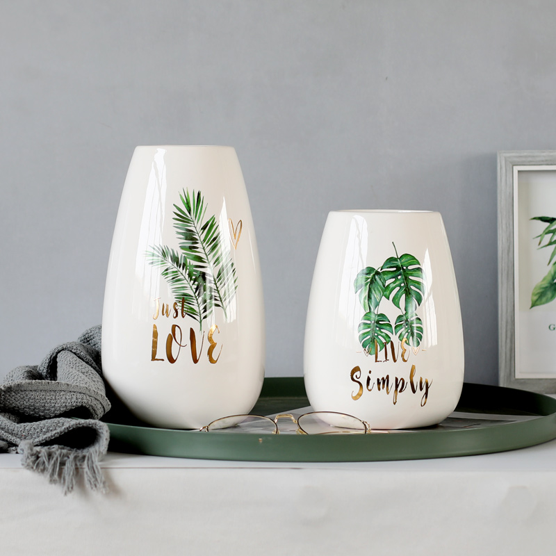 Super Promo Cdf7 1pc Monstera Flower Vase Nature Plant Vase