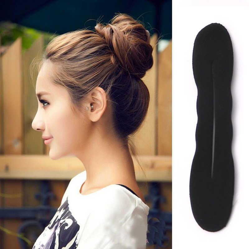 5 sztuk/zestaw kobiety zestaw akcesoriów do włosów plecionki spinka do włosów grzebień Bun Roller Maker stylizacja zaplatanie włosów Twist Curler Styling Tools