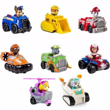 2019 New Paw Patrol dog patrulla canina Toys Anime Figurine Car Plastic Toy Action Figure model Children toys Birthday Gifts все цены