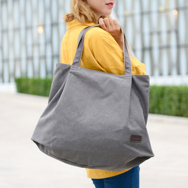 Large Capacity Shoulder Bags Casual Handbags Women Famous Brand Canvas Tote Shopping Bag 5