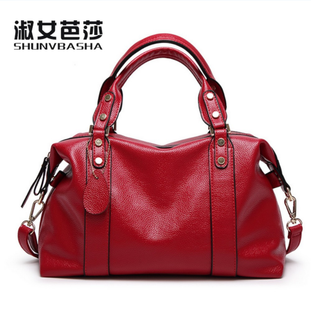 SNBS 100% Genuine leather Women handbag 2017 New The trend of all-match Fashion