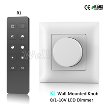 цена на KL AC85-265V 0-10V led dimmer Output 1 channel 0-10V signal High voltage AC input relay output Wall Mounted Knob remote