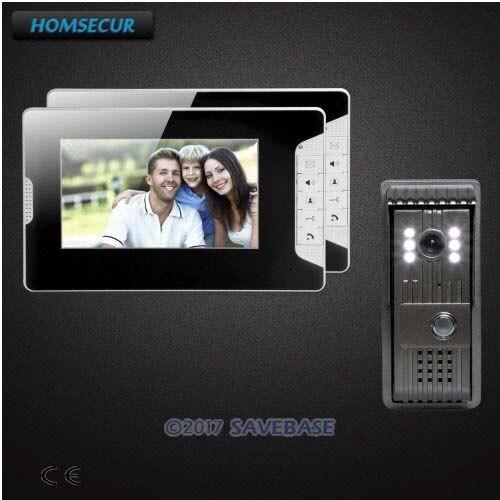 все цены на HOMSECUR 1V2 7inch Wired Video Door Entry Phone Call System with Intra-monitor Audio Intercom онлайн