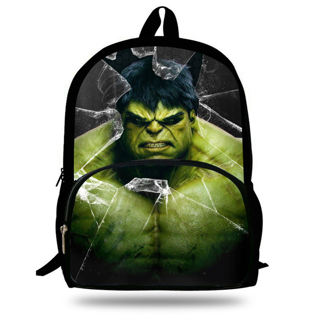 16 inch Primary School Backpack Boys Hulk School Bags For Kids ...