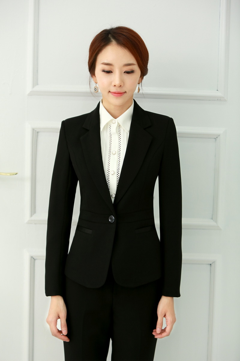 Formal Ladies Black Blazer Women Business Suits Formal Office ...