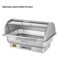 Stainless steel buffet furnace Electric heating holding furnace Restaurant Hotel Cafeteria Insulation Stove 220/110v 350w 1pc|Food Processors| |  -