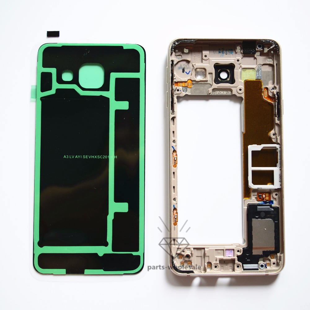 Original Replacement Back Battery Case Middle Frame Sim Card Tray For Samsung Galaxy A310 A3 2016