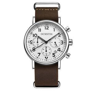 Image 4 - OCHSTIN Chronograph Mens Watch Men Watches Male Casual Top Brand Luxury Quartz Wristwatch Clock Military Clocks Stopwatch 081A