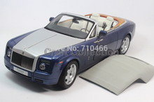Kyosho Metropolitan Blue 1/18 Rolls-Royce Phantom Drophead Coupe Alloy Model Car Convertible Luxury Vehicle Valuable Gift