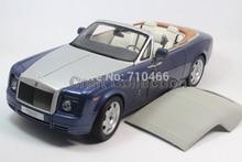 Kyosho Metropolitan Blue 1/18 Rolls-Royce Phantom Drophead Coupe Alloy Model Car Convertible Luxury Vehicle Valuable Gift