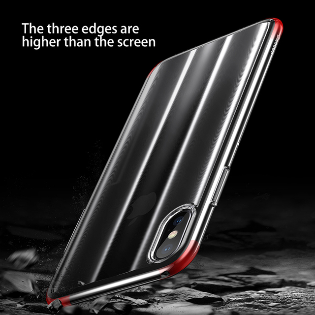 Baseus iPhone X Luxury Aurora Anti Fingerprint Protective Back Case Cover