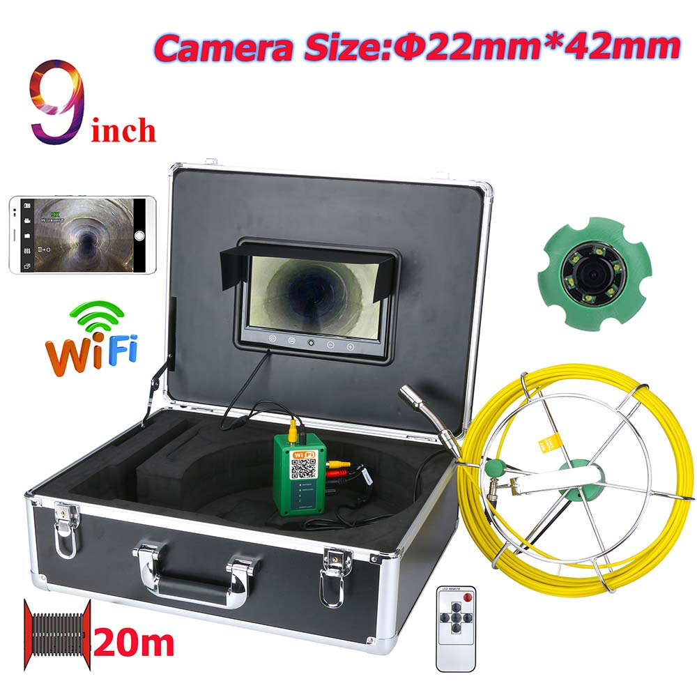 Surveillance Cameras Video Surveillance Amicable 20m/30m/40m/50m 9 Inch Wifi Wireless 22mm Industrial Pipe Sewer Inspection Video Camera System Ip68 Waterproof 1000 Tvl Camera