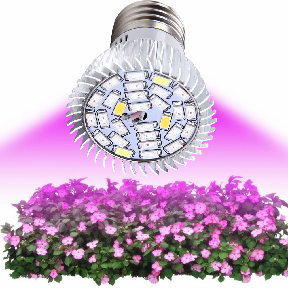 (10 unids / lote) Full Spectrum led grow bombilla E27 E14 GU10 Led Growing Lamp Vegetables Hydroponic System LED Grow Lighting Plant